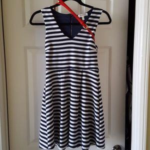 Monteau striped sundress with belt